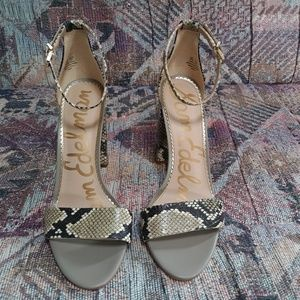 Sam Edelman Snake Skin Print Heels